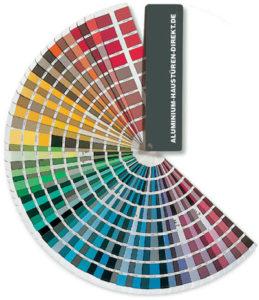 Aluhaustueren-Farbe RAL Farbfächer - www.aluminium-haustueren-direkt.de