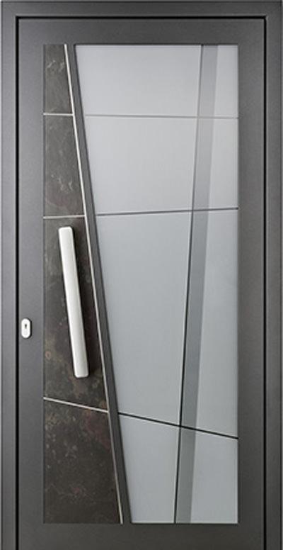 Aluminium-Haustür Modell Barthe 2 Serie Style