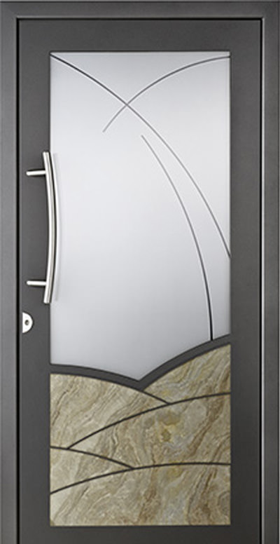 Alu-Haustür Modell Brenz Serie Style