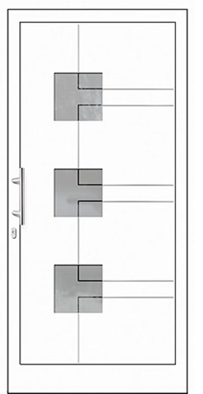 Aluminium-Haustür Modell Gelster Serie Style