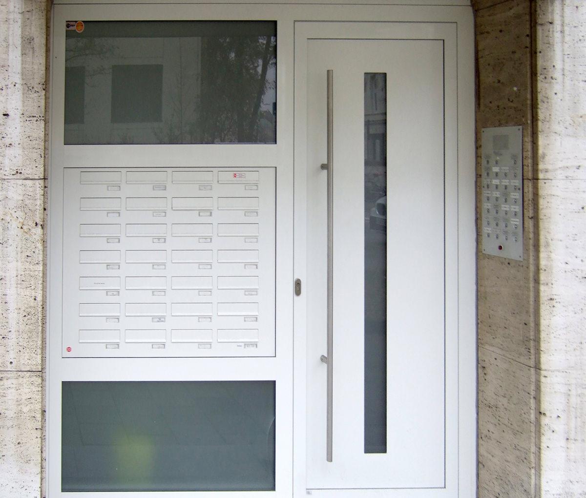 Briefkästen - Haustür Seintenteil-Briefkastenanlagen - www.aluminium-haustueren-direkt.de