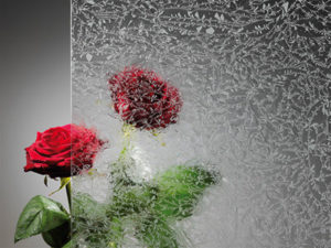 Aluhaustüren-Verglasung Eisblume Preisgruppe B - www.aluminium-haustueren-direkt.de