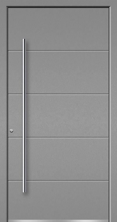 Aluminium-Haustüren Aktion Concept Class Modell Artis Farbe 9007 Silbergrau Feinstruktur