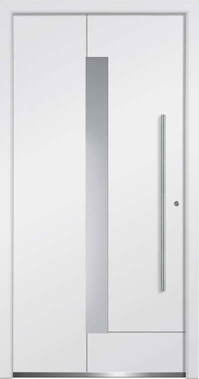 Aluminium-Haustüren Aktion Concept Class Modell Vasco Farbe RAL 9016 verkehrsweiss