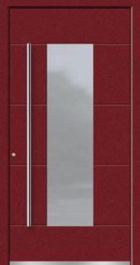 Aluminium-Haustüren Aktion Concept Class Modell Daco Farbe 3005 Weinrot Feinstruktur