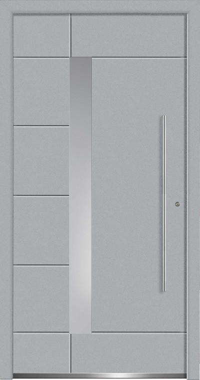 Aluminium-Haustüren Aktion Concept Class Modell Glanis Farbe 7001 silbergrau