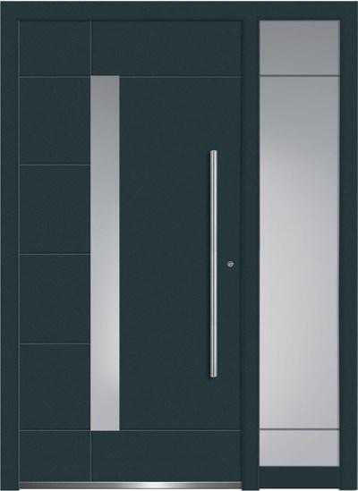 Alu-Haustüren Aktion Concept Class Modell Glanis mit SeitenteilFarbe RAL 7016 anthrazitgrau