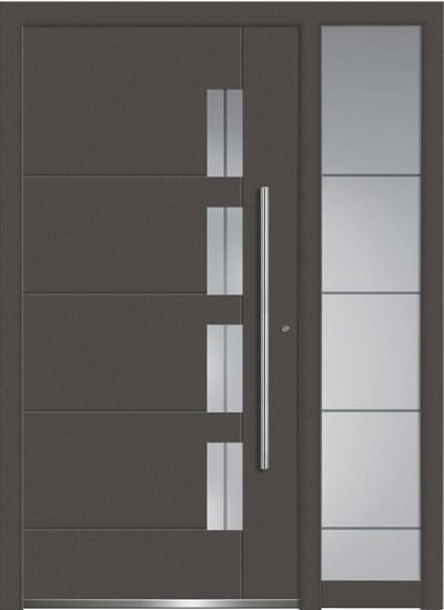 Alu-Haustüren Aktion Concept Class Modell Luca mit SeitenteilFarbe DB 703