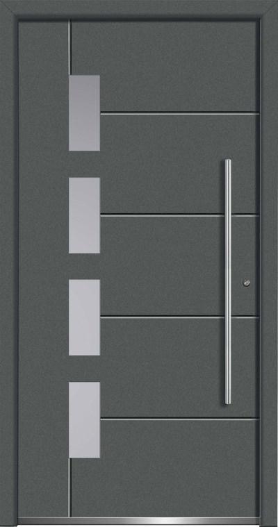 Aluminium-Haustüren Aktion Concept Class Modell Scota Farbe 7012 basaltgrau
