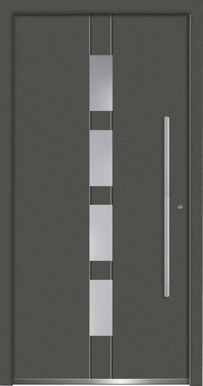 Aluminium-Haustüren Aktion Concept Class Modell Vasco Farbe DB703