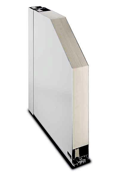 Aluminium-Haustür System Kompakt 72/82 Querschnitt Füllung beidseitig flügelüberdeckend