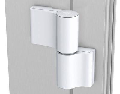 Türband Aluhaustüren Standard weiß 2-teilig verstellbar - www.aluminium-haustueren-direkt.de