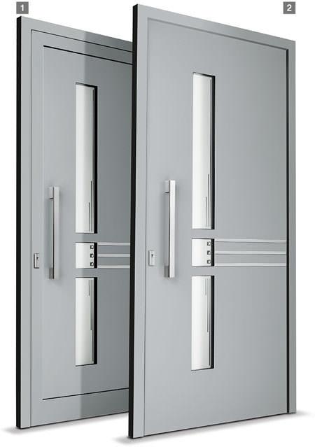 Aluhaustüren mit flügelüberdeckender Füllung oder mit eingesetzter Füllung - www-aluminium-haustueren-direkt.de