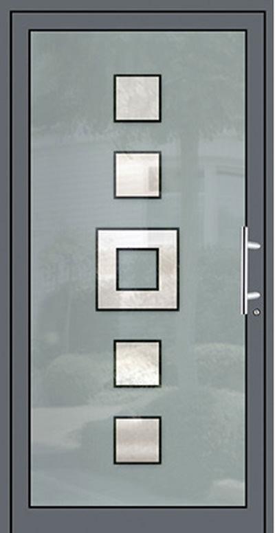 Aluminium-Haustüren Modell Deilbach Farbig Serie Free