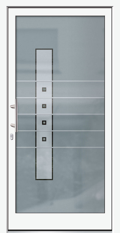 Aluminium-Haustür Modell Karbach Serie Free