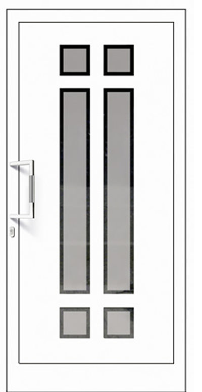 Aluminium-Haustüren Modell Mangfall Serie Pure