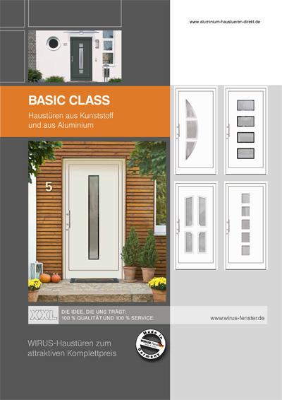 Prospekt Aluhaustüren und Kunststoffhaustüren Aktion Serie Basic Class - www.aluminium-haustueren-direkt.de