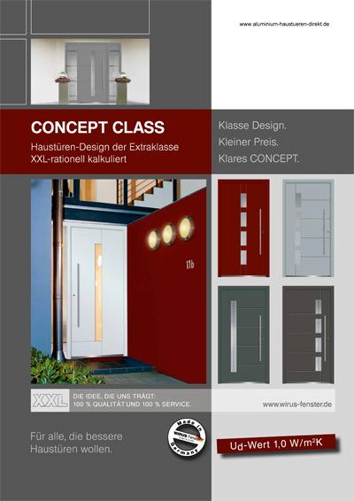 Prospekt Aluhaustüren Serie Concept Class Aktionstüren - www.aluminium-haustueren-direkt.de