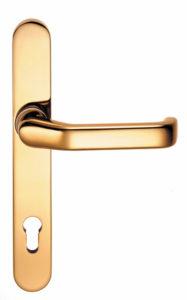 Aluhaustüren-Beschläge Innendrücker Typ 501 Messing poliert - www.aluminium-haustueren-direkt.de