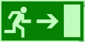 Fluchtweg DIN EN 179 - Haustüren von Mehrfamilienhäusern dürfen nicht abgeschlossen werden - www.aluminium-haustueren-direkt.de