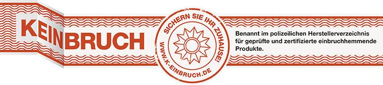 """Haustüren-Sicherheit Siegel """"Kein Einbruch"""" Herstellerverzeichnis"""